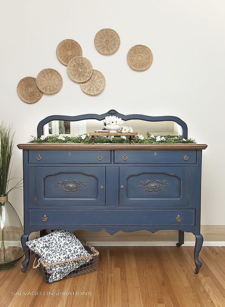 Blue Painted Buffet - Salvaged SideBoard
