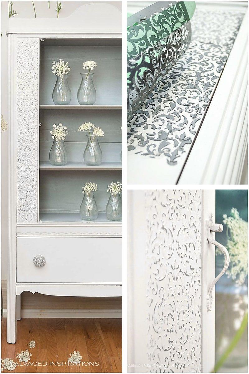 Create a Raised Stencil Design on Plain Furniture