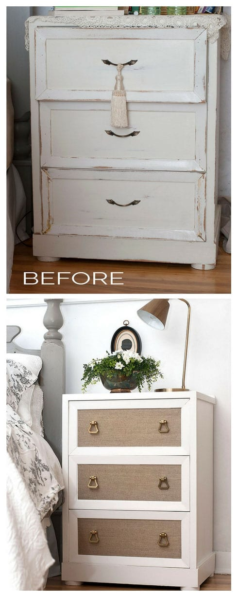 Adding Wallpaper to Painted Furniture - Before and After
