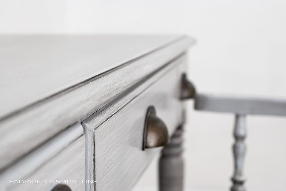 Close Up of Poly and Wax Coated Desk