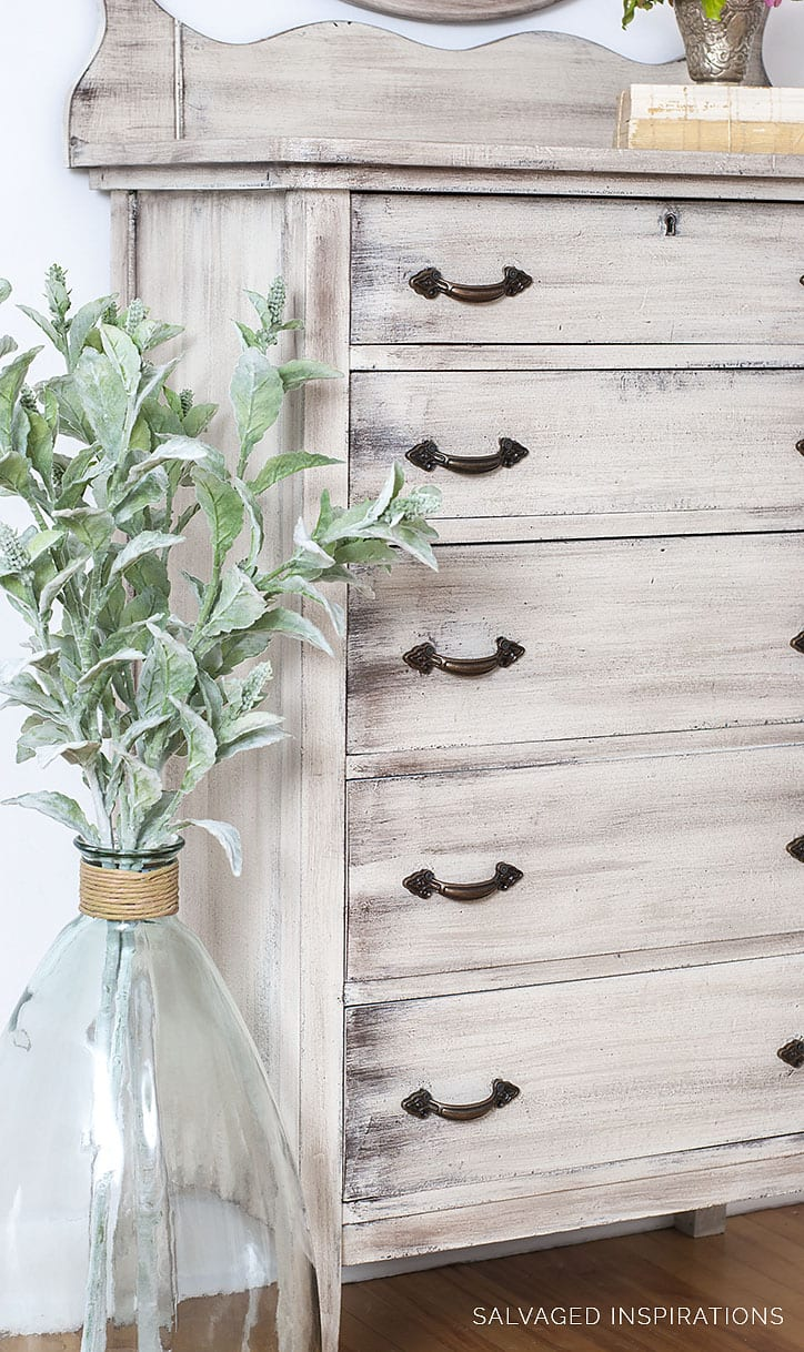 DIY Weathered Wood Painted Dresser