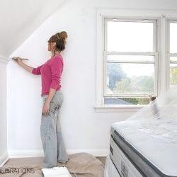 Denise Painting Over Wallpaper