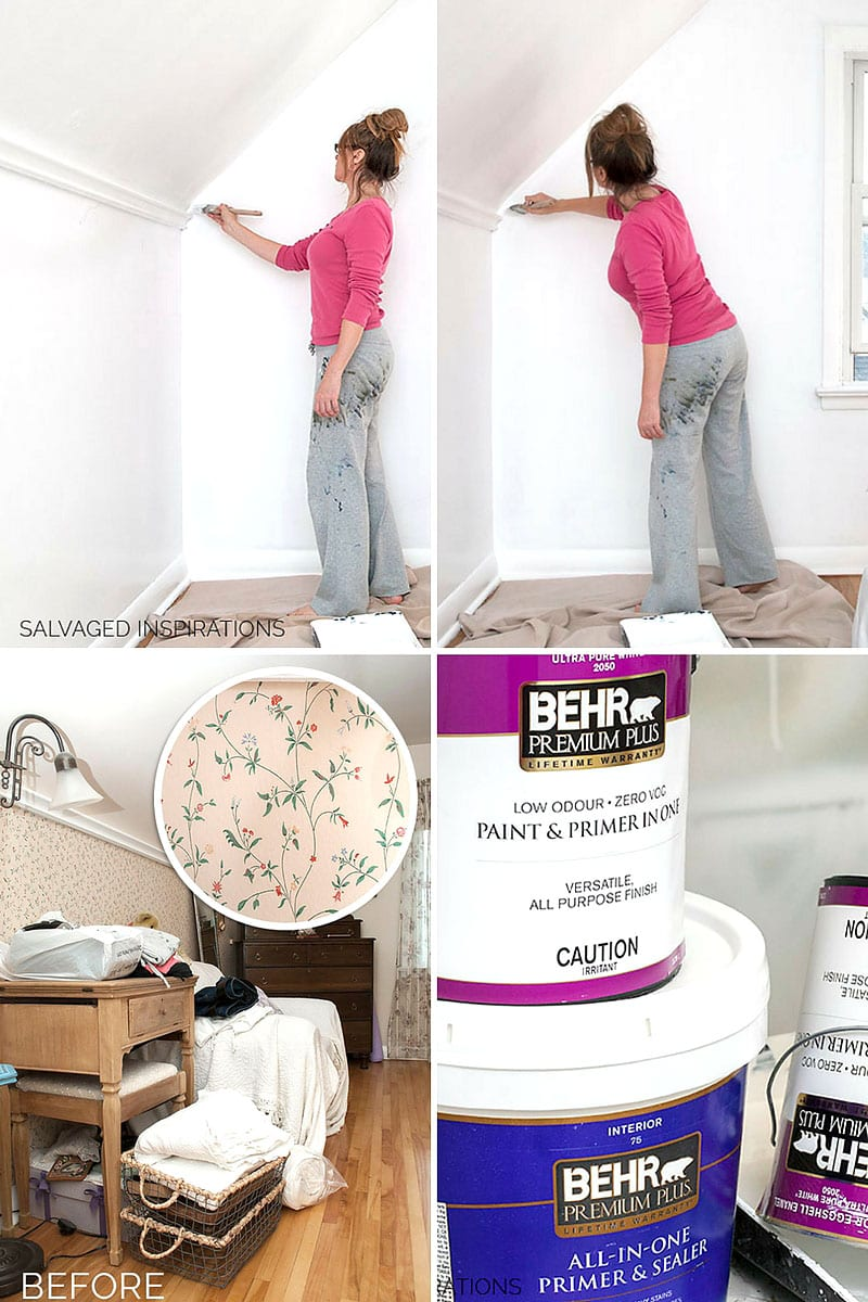 How To Paint Over Wallpaper - Salvaged