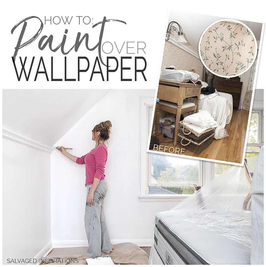 How To Paint Over Wallpaper - SI Blog