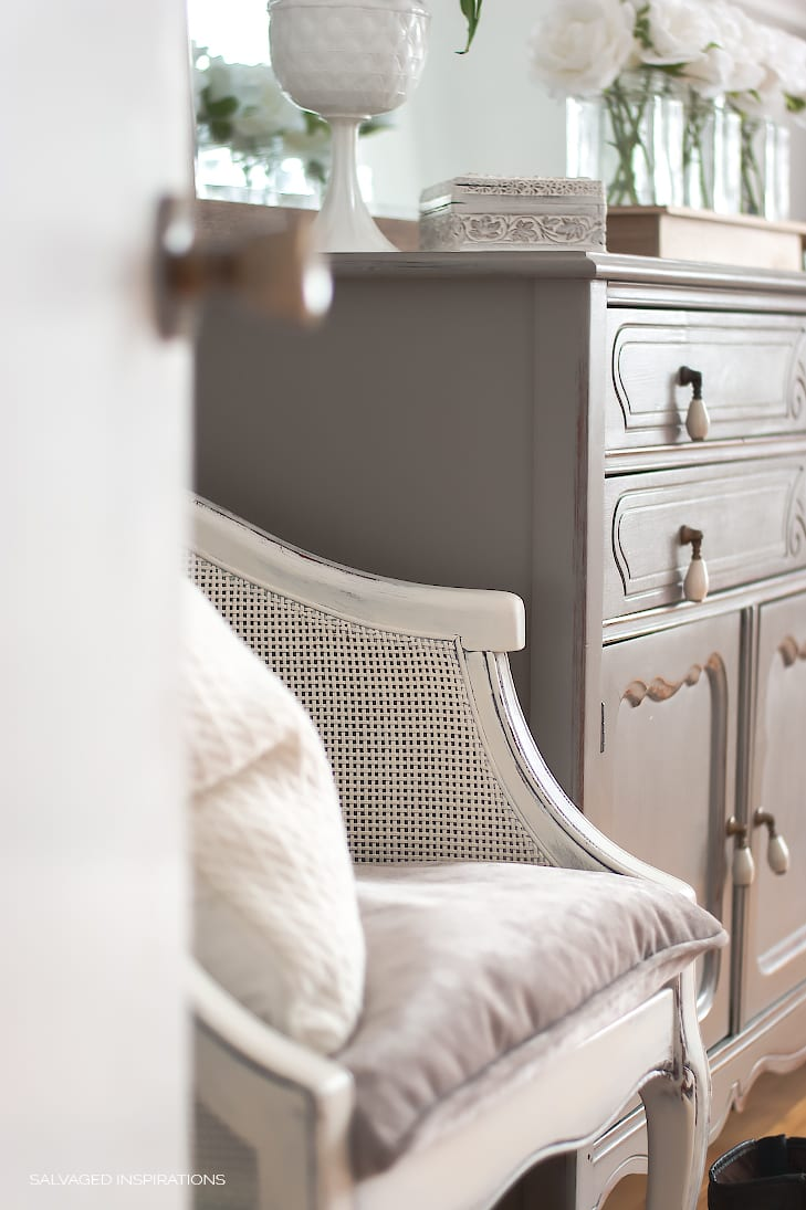 Bedroom Chair Makeover W DIY Paint + Upholstery