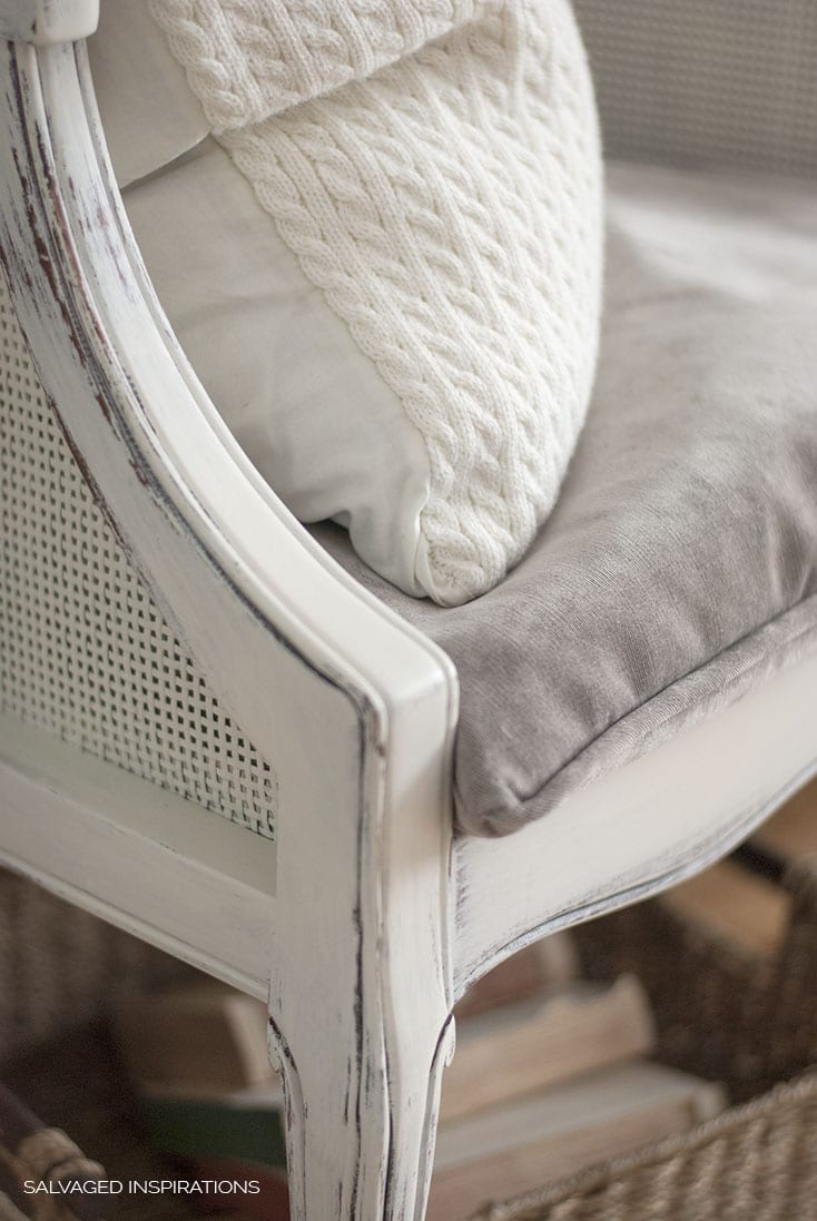 DIY PIPING ON UPHOLSTERED CHAIR