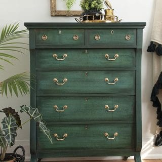 Empire Dresser Painted in Layered Chalk Paint