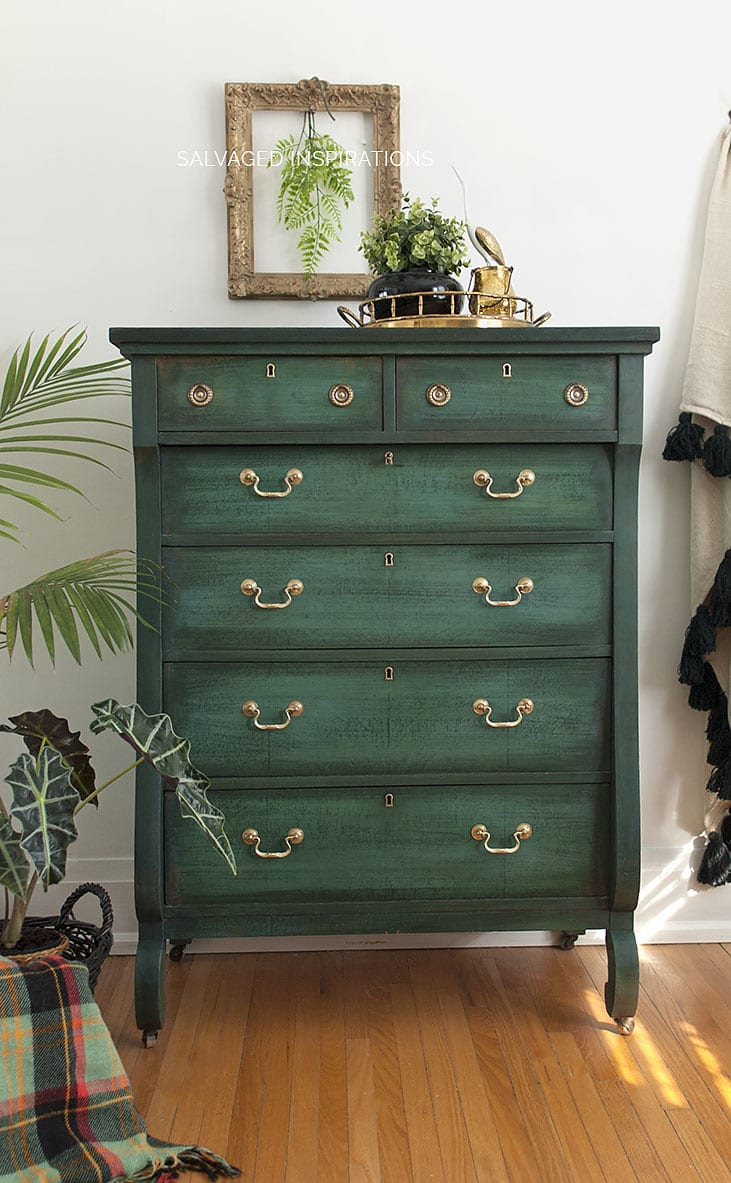 Layered Chalk Painted Chest Of Drawers
