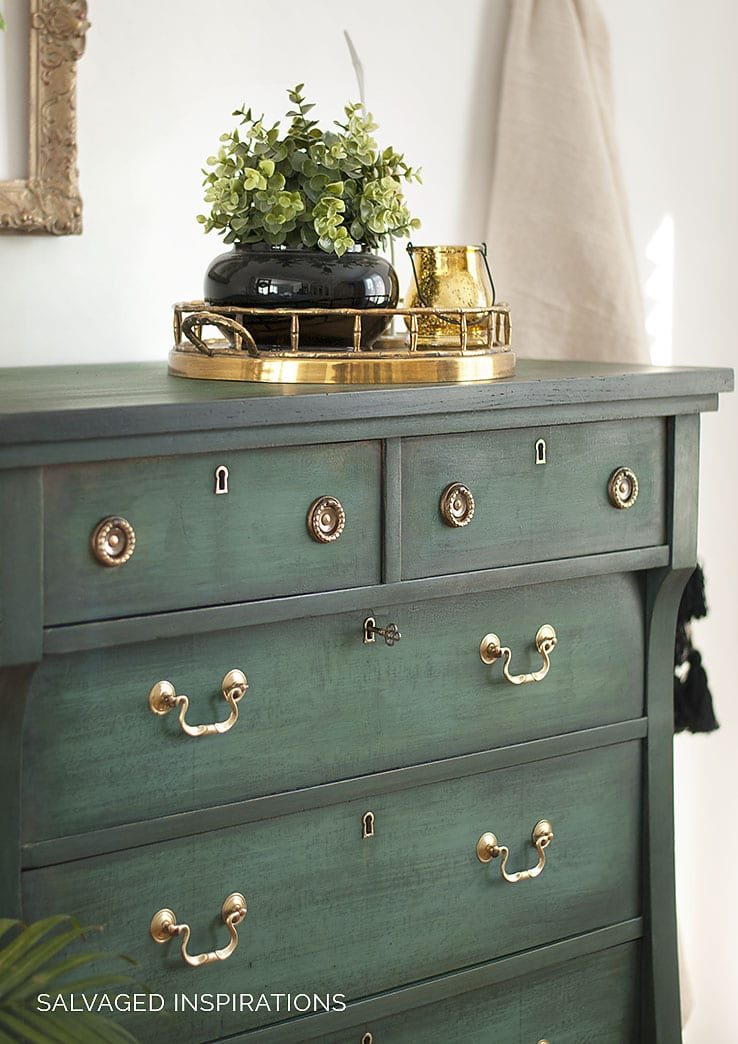 Front of Empire Dresser with Brass Handles