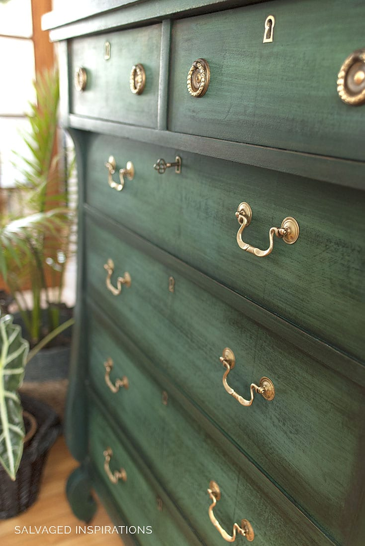 Layered Chalk Paint Close Up Dresser