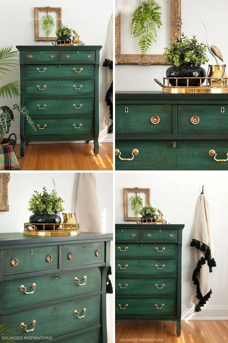 Layering Chalk Painted Dresser Collage