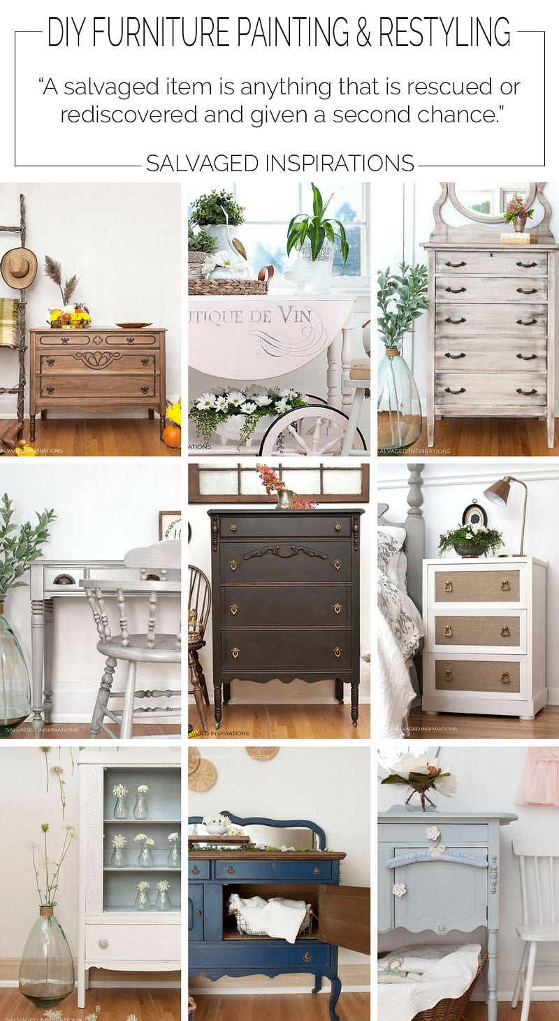 Salvaged Inspirations DIY Furniture Painting Tutorials