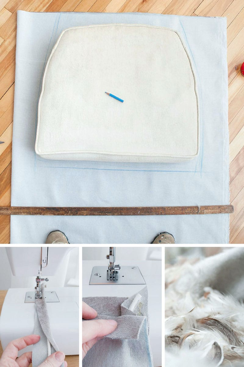 Sewing Seat Cushion for Chair Makeover