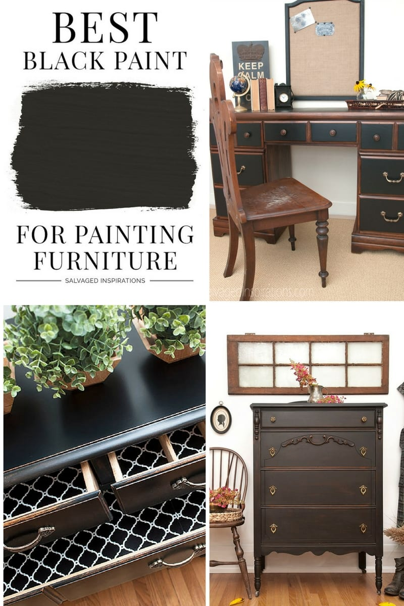 best paint for furniture Best Black Paint For Furniture   Salvaged Inspirations best paint for furniture