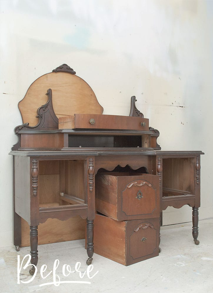 Before Pic - Vintage Vanity Salvaged Inspirations