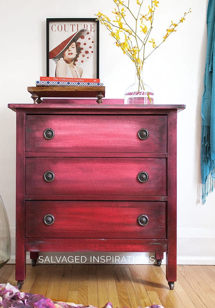 Boho Ombré Paint Effect Salvaged