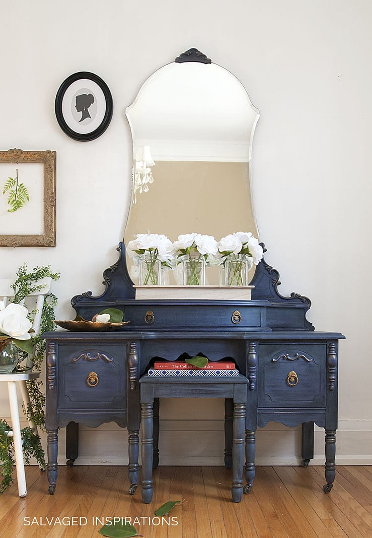 DB Chalk Mineral Painted Vintage Vanity - Salvaged Inspirations