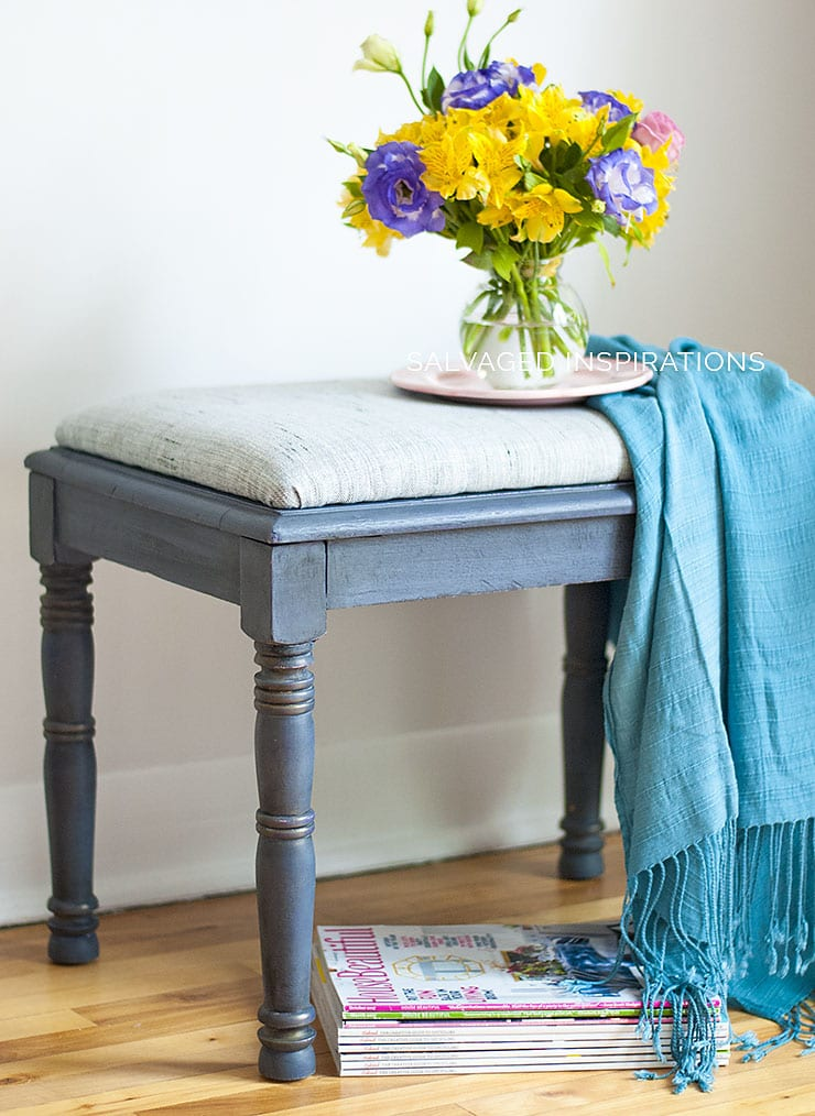 DIY Seat Upholstery - Salvaged Inspirations