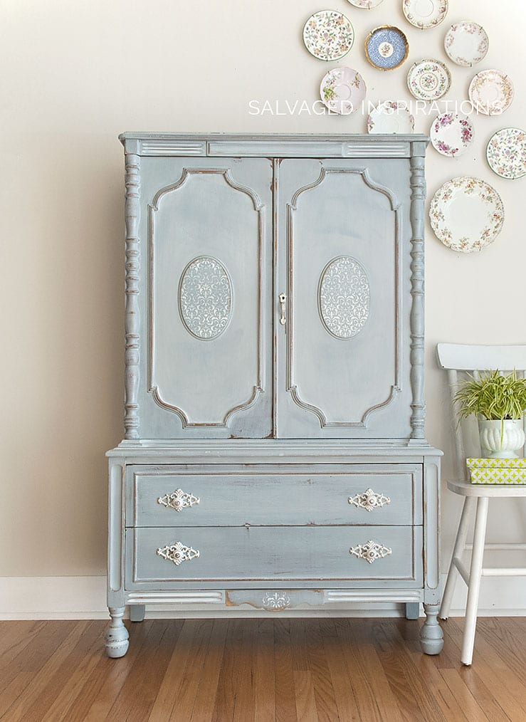 Milk Painted Vintage Armoire - Salvaged Inspirations