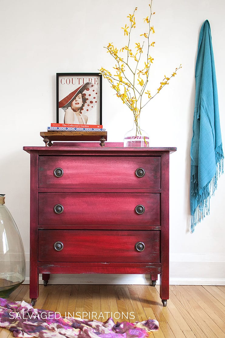 Ombré Painting Effect on Small Dresser