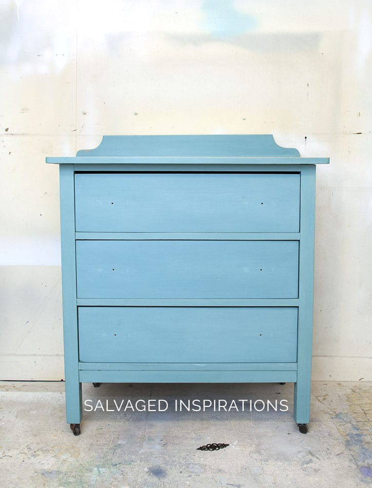 Small Salvaged Dresser Re-Do Base Color