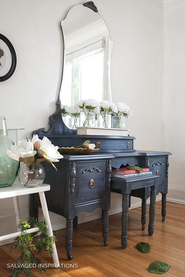 Vintage Dresser Makeover by Salvaged Inspirations - Painted Furniture