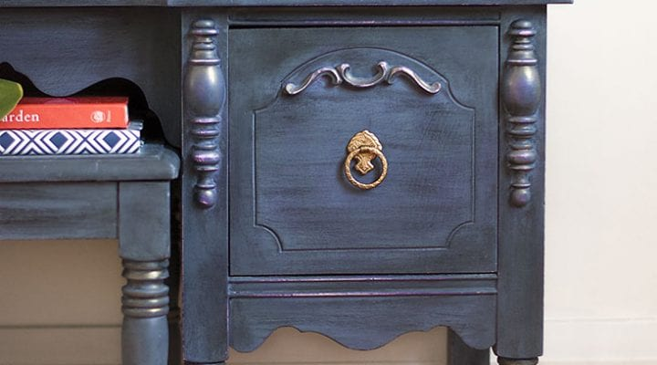 Layered 'Stormy Seas' Vintage Vanity Makeover