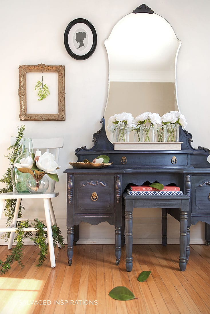 Vintage Vanity Makeover Salvaged Inspirations
