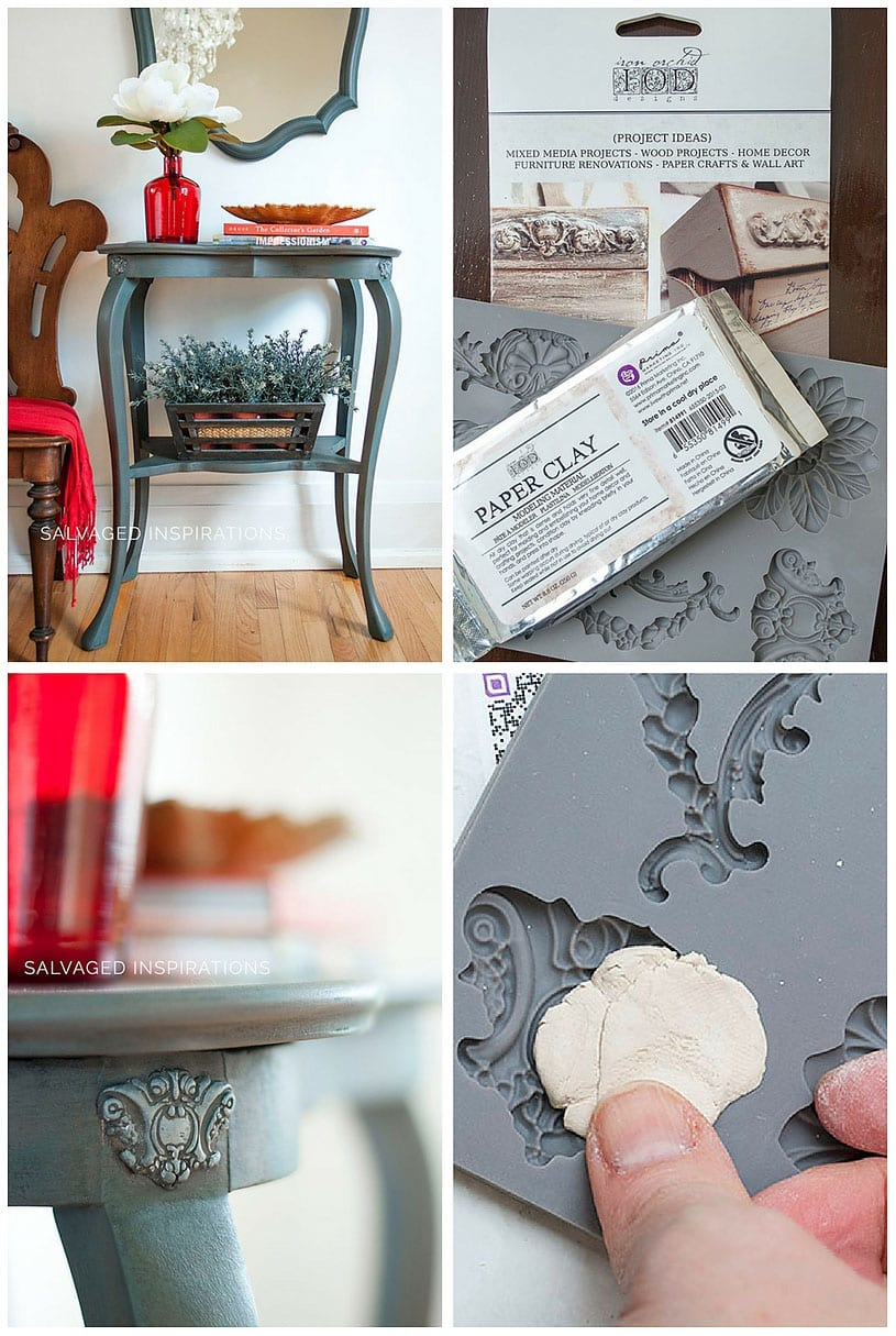 DIY Paper Clay Furniture Molds - Salvaged Inspirations