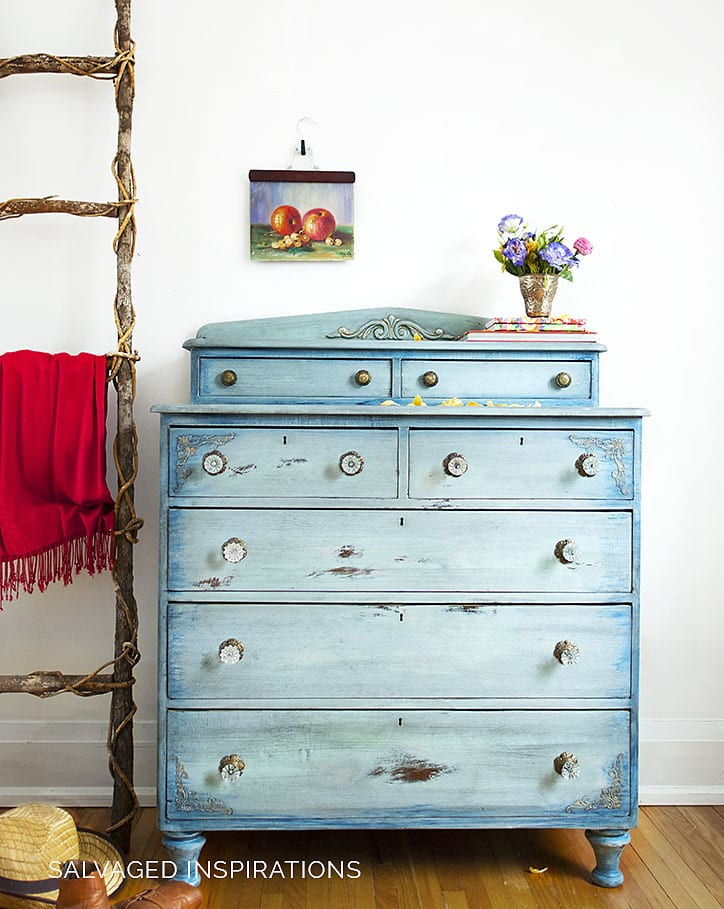 Dixie Belle Paint Faded Denim Dresser Makeover