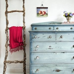 Faded Denim Dresser Makeover