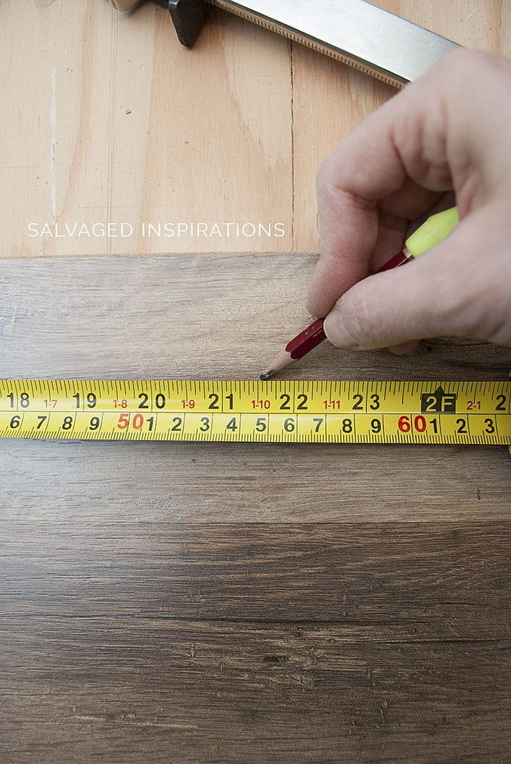 Measuring Laminate for Back of Corner Cabinet