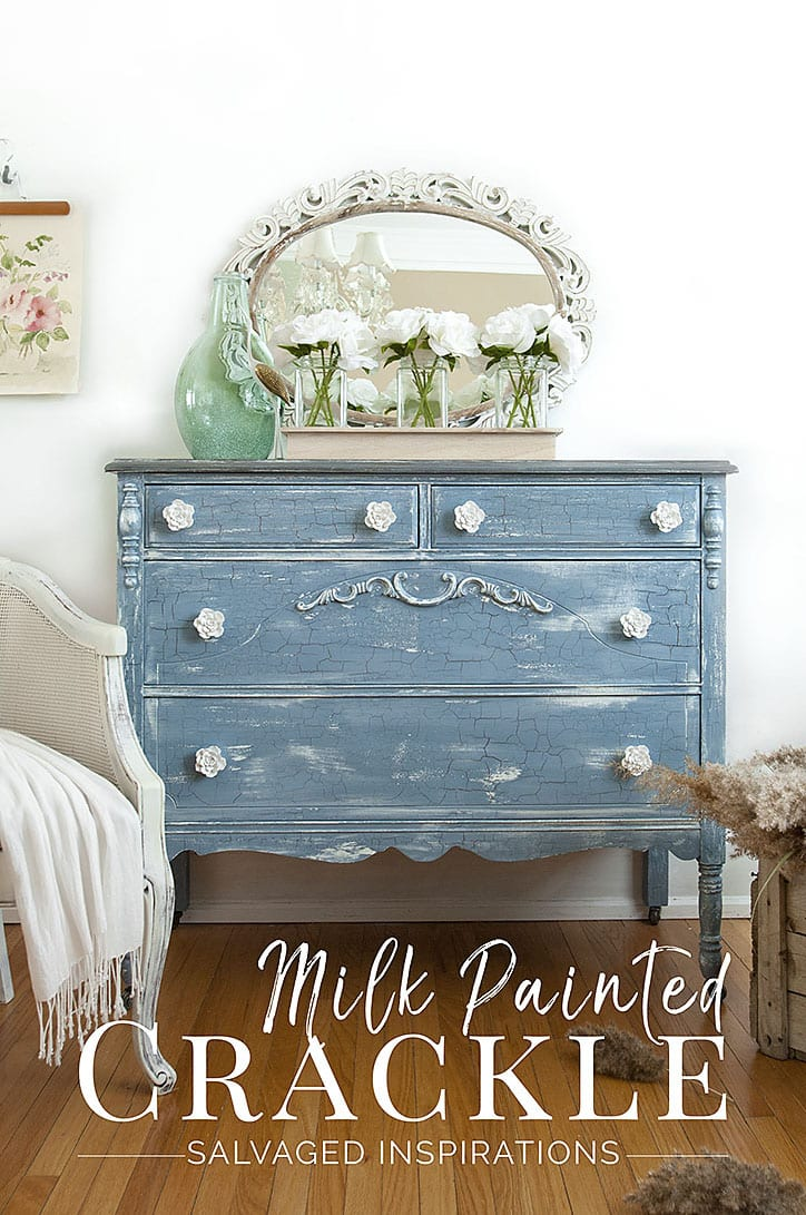 Milk Painted Crackle Paint Finish Txt - Salvaged Inspirations