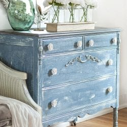 Side View Of Modern Farmhouse Crackle Dresser