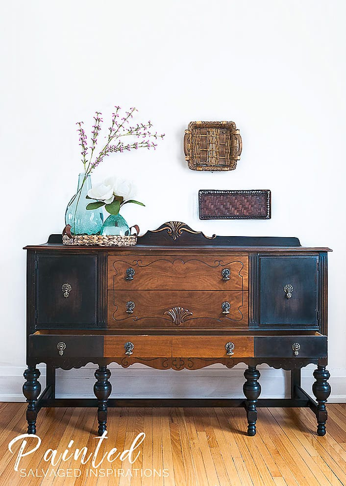 Caviar Blck Dixie Belle Painted and Stained Buffet