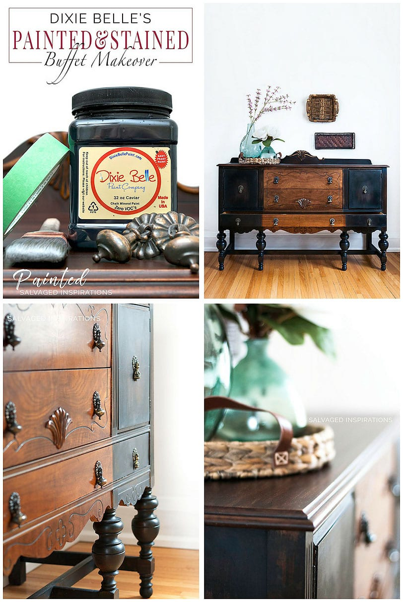 Dixie Belle Paint | Painted And Stained Vintage Makeover