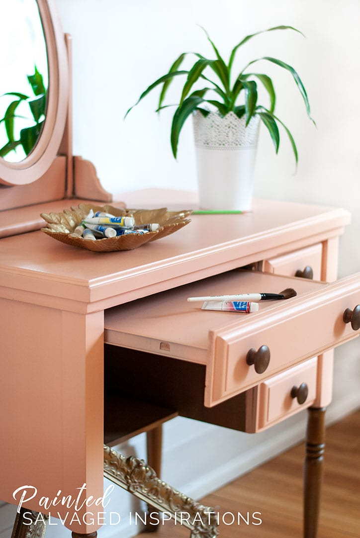 Salvaged-Sewing-Desk---Painted-DIY