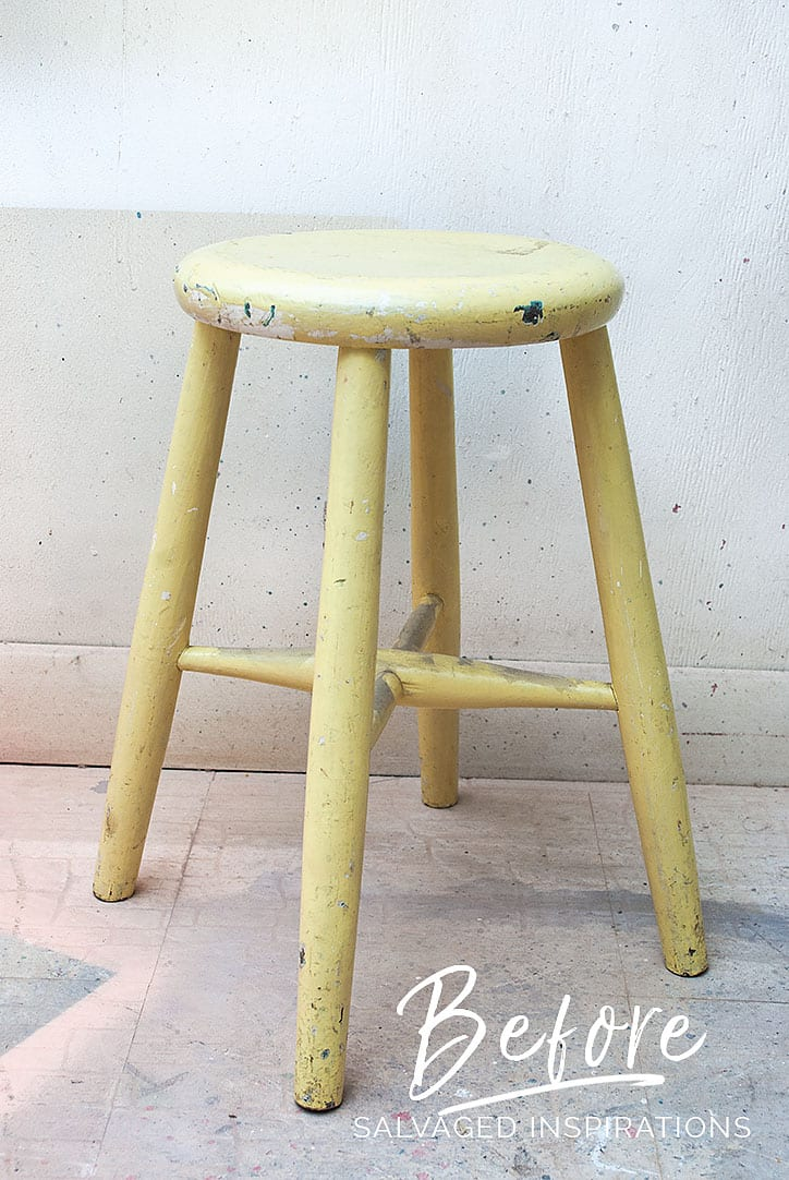 Salvaged Stool - Before