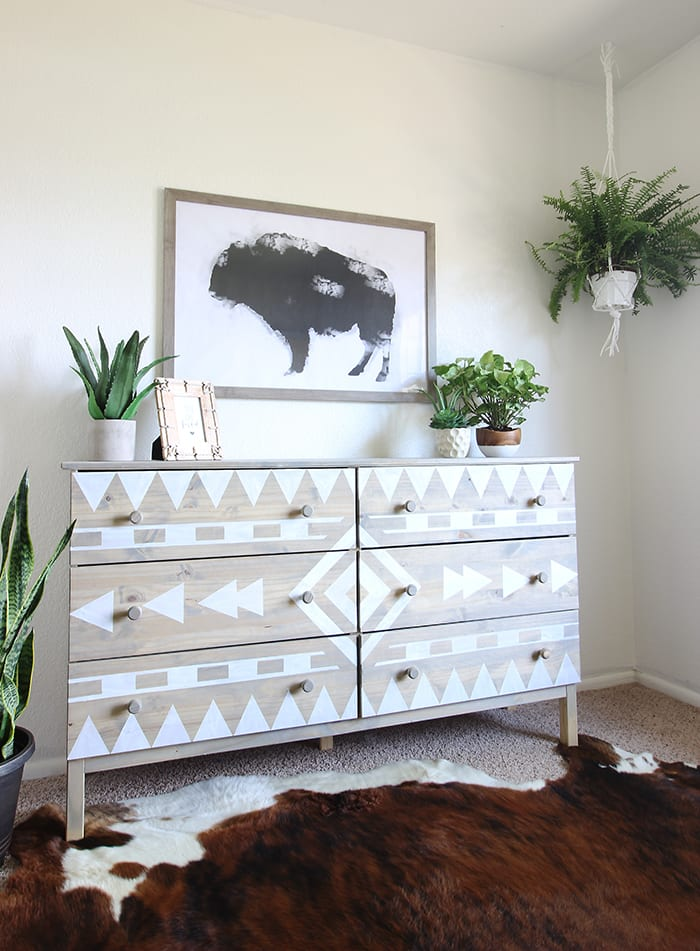 7 Inspiring Furniture Stencil Ideas - Salvaged Inspirations
