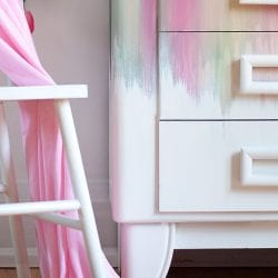 CloseUp of Blended Furniture Painted Hutch