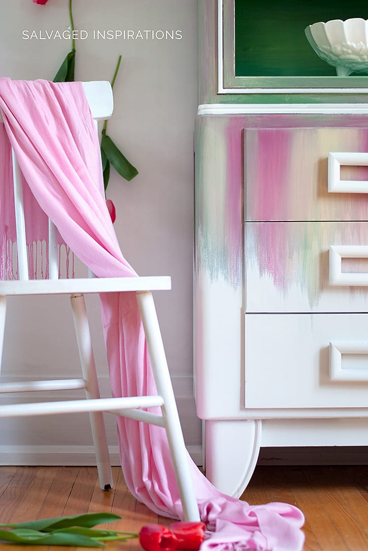 Dry Brushed Painted Hutch w DB Paints