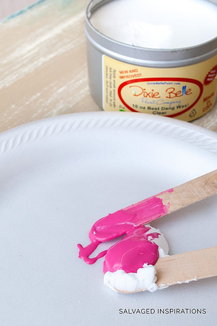 Furniture Painting With PINK Tinted Wax