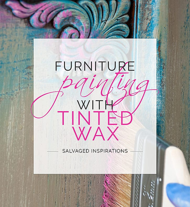 Furniture Painting w DIY Tinted Wax - Buffet Makeover