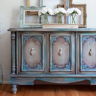 Furniture Painting with Wax - Buffet Makeover Salvaged Inspirations