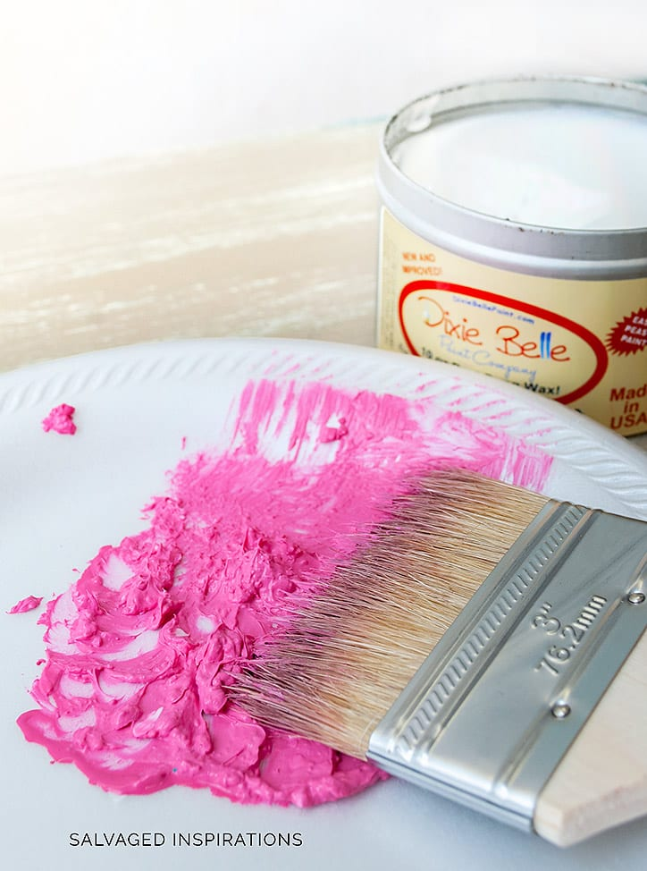 Mixing Pink Paint with Clear Wax