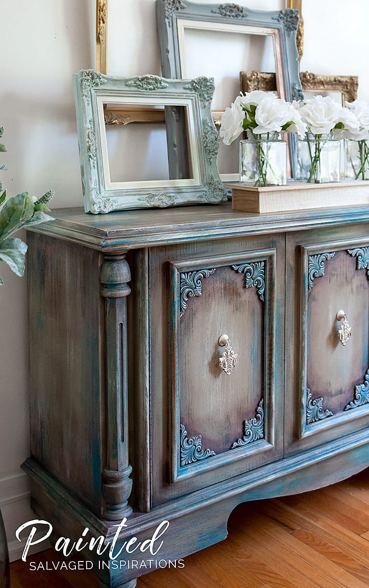Painting Furniture w Pink Wax - Buffet Makeove