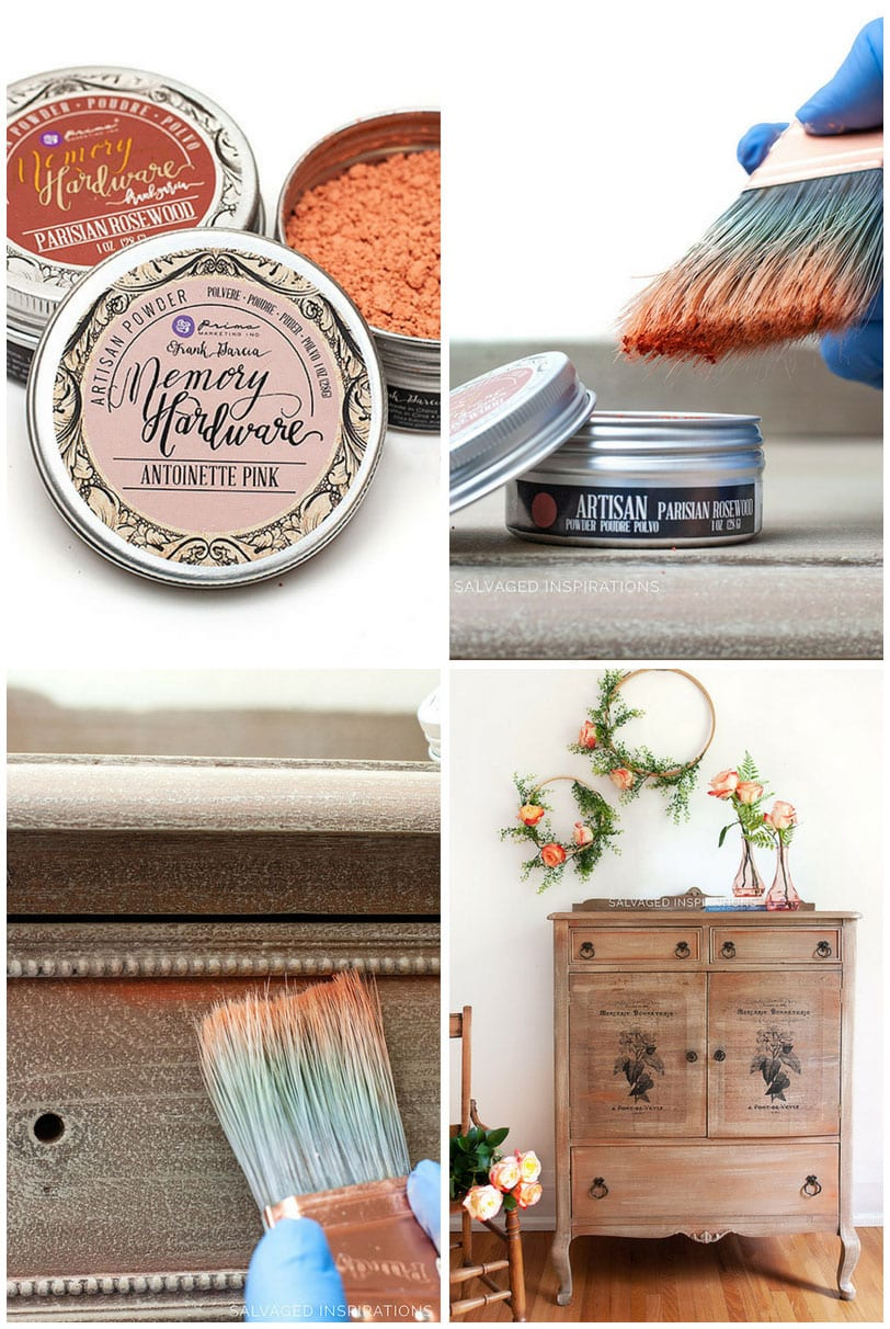 Artisan Powder Salvaged Dresser Makeover