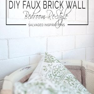 Close Up of DIY Faux Wall Bedroom Restyle