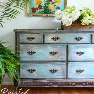 How to Paint Laminate Furniture Without Sanding | 90's Dresser Makeover
