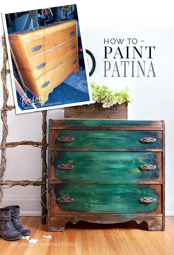How To Paint Patina Before & After